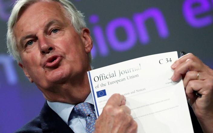 Michel Barnier is coming to London - Reuters