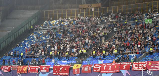 Liverpool fans travelled in numbers to support the team against Napoli in Italy on Tuesday. (Photo by John Powell/Liverpool FC via Getty Images)