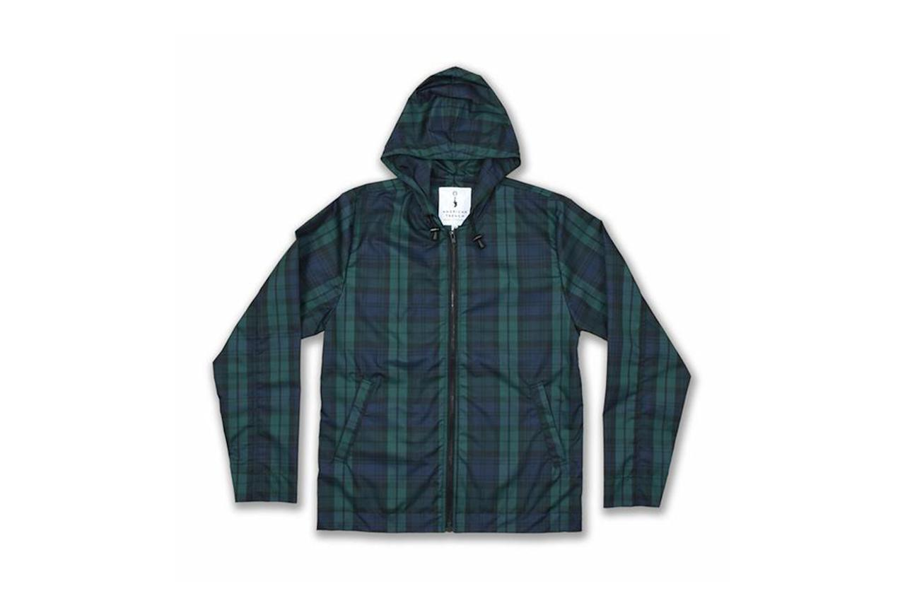 """<p>The perfect lightweight, waterproof layer for spring, but instead of a tech-y, 90s sportswear vibe, the blackwatch plaid gives a nod to the traditional. —Max Berlinger</p><p><em>$349, available at <a rel=""""nofollow"""" href=""""https://www.americantrench.com/collections/outerwear/products/rain-slicker?mbid=synd_yahoostyle"""">americantrench.com</a></em></p>"""
