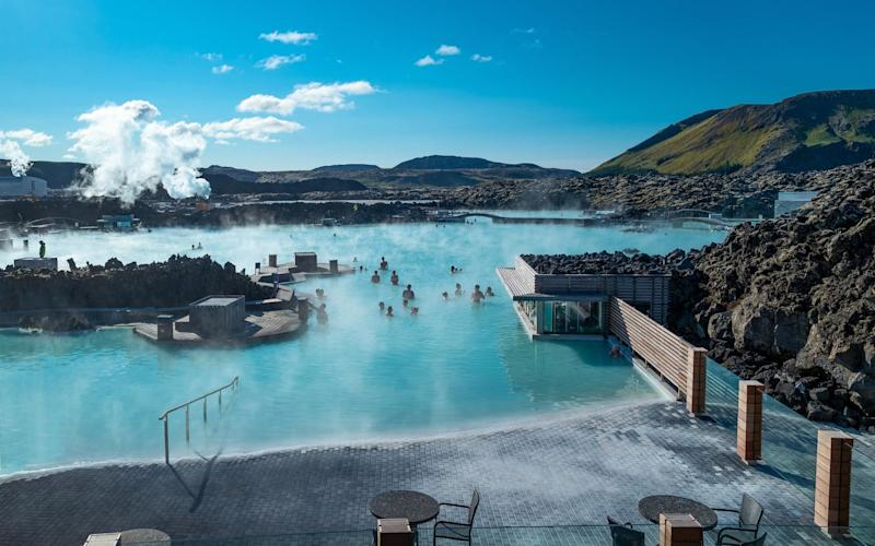 The Blue Lagoon, one of Iceland's most popular tourist attractions, has remained quiet throughout the pandemic - Getty
