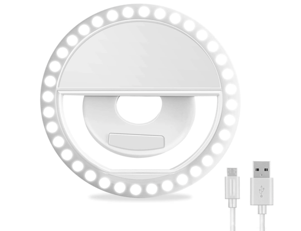 An itty-bitty clip-on ring light for FaceTime and Zoom. (Photo: Amazon)