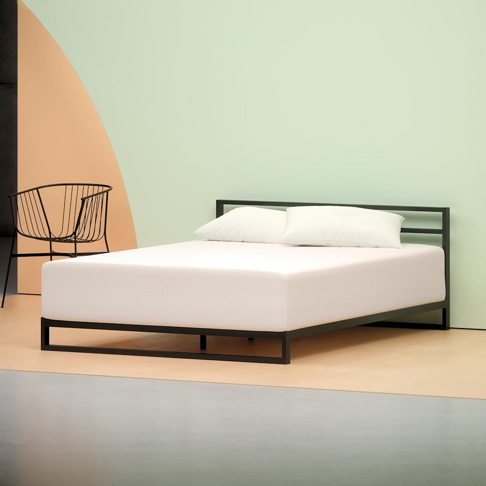 <p>You don't even need a box spring; it fits perfectly on a bed frame.</p>