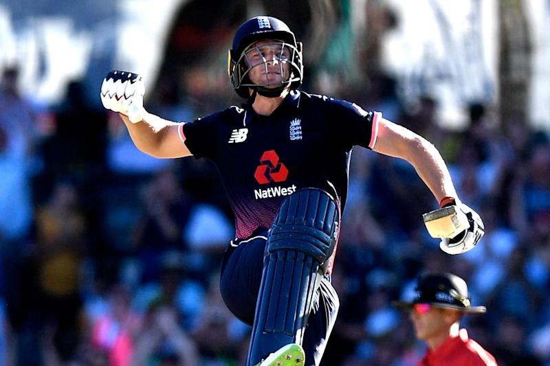 Century: Jos Buttler hit the crucial runs in a series-clinching victory: Getty Images