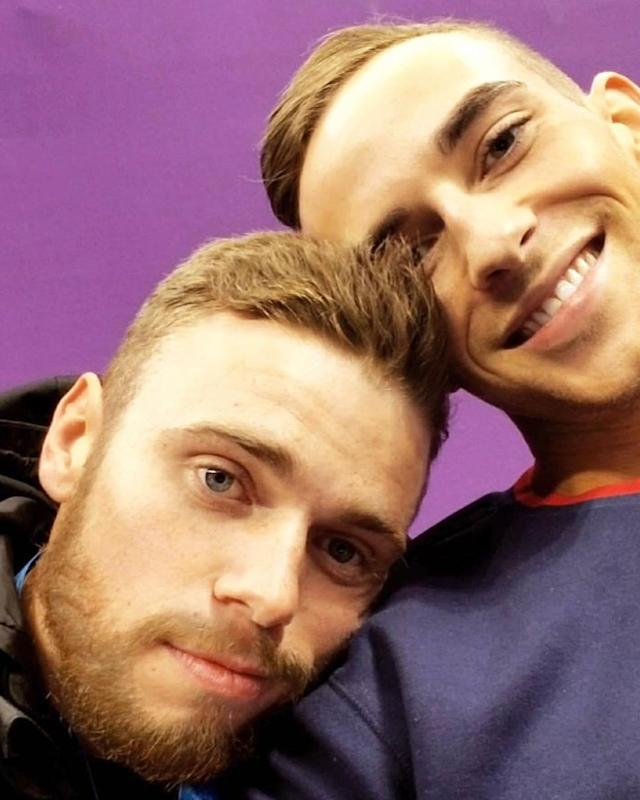 <p>adaripp: Cheering on our Olympic Angel today. Get it, G!!! (Photo via Instagram/adaripp) </p>