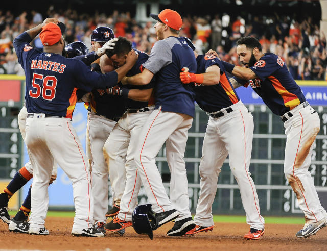 The Astros came a long way in 2017. (AP Photo/Eric Christian Smith)