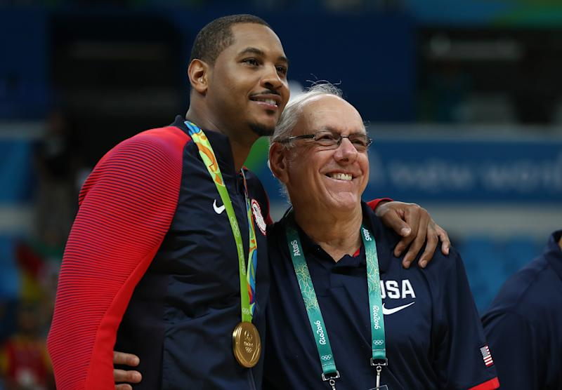 Carmelo Anthony reportedly won't reprise his role with Team USA. (Getty)