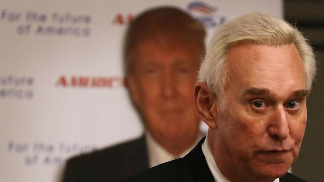 Former Donald Trump campaign manager Roger Stone weirdly cited a post on a West Virginia fan board amid discussions about Russian hacking.