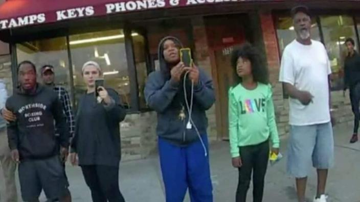 Darnella Frazier (center), the teen who filmed the murder of George Floyd last May, is being hailed as a hero for posting the footage that undoubtedly contributed to achieving a guilty verdict against Derek Chauvin. (Court TV)