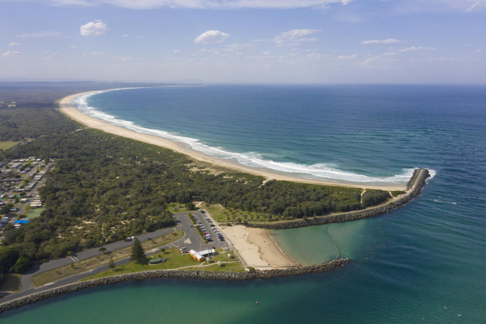 The man died after he was mauled by a shark at Tuncurry Beach in NSW. Source: Getty
