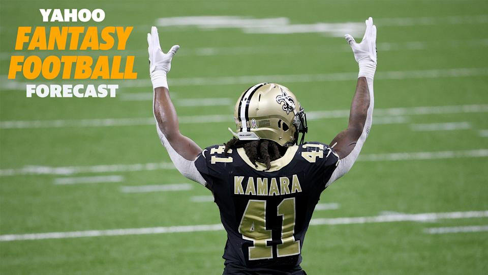 Alvin Kamara's pass-catching took a big hit with Taysom Hill under center.
