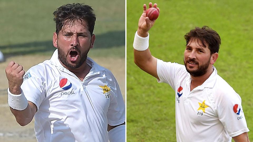 Yasir Shah bulldozed his way through New Zealand to take 10 wickets in a day. Pic: Getty