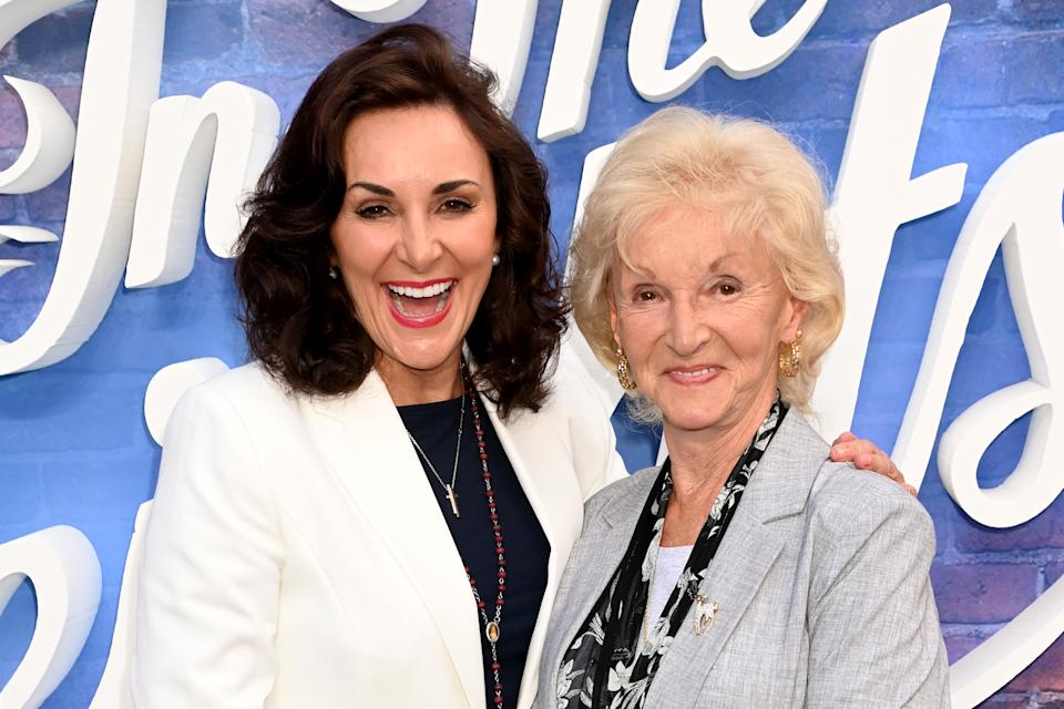 LONDON, ENGLAND - JUNE 09: Shirley Ballas and mother Audrey attend the screening of