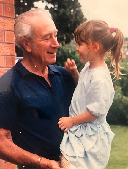 Laura Byrne and her grandad