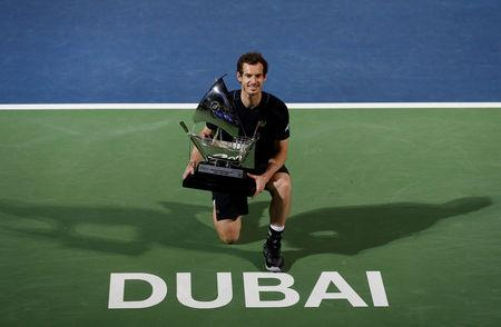 Tennis - Dubai Open - Men's Singles - Final- Andy Murray of Great Britain v Fernando Verdasco of Spain- Dubai