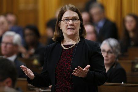 Canada's Health Minister Jane Philpott speaks during Question Period in the House of Commons on Parliament Hill in Ottawa, Canada, February 18, 2016. REUTERS/Chris Wattie/Files