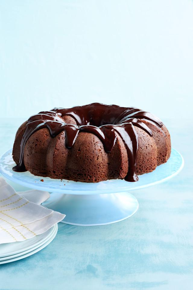 """<p>This oatmeal-brownie cake will top the list of requests from your family. </p><p><strong><a rel=""""nofollow"""" href=""""http://www.womansday.com/food-recipes/food-drinks/recipes/a50262/oatmeal-brownie-bundt-cake-recipe-wdy0515/"""">Get the recipe.</a></strong></p>"""