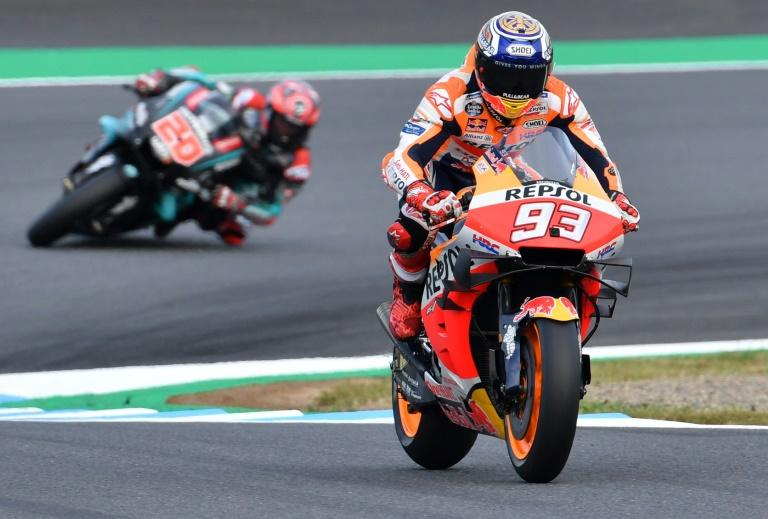 Marquez was unassailable from the second lap in his first ever pole start at the Motegi Twin Circuit