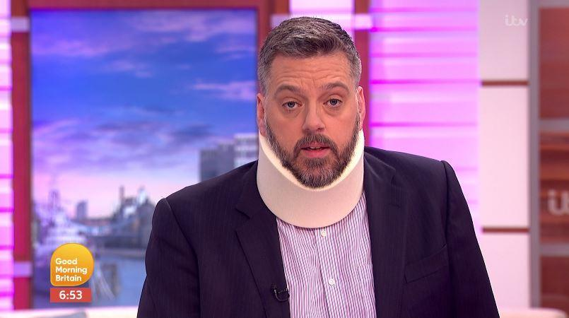 Iain was a little stiff around the neck on today's show. (ITV)