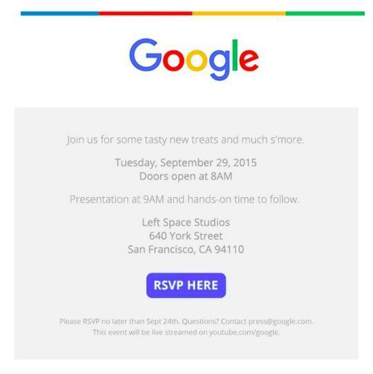 Google issues invitations to nexus smartphone event on sept 29 stopboris Image collections