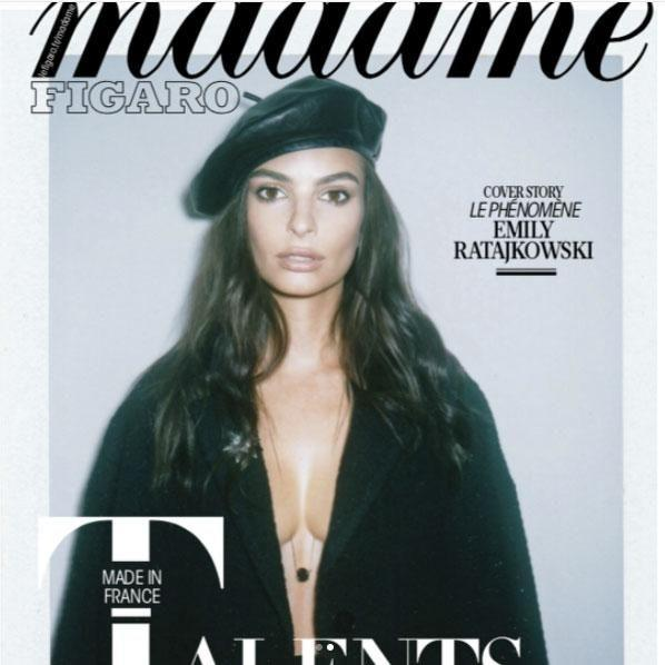 Taking to social media, the 26-year-old has shared the final version of this month's Madame Figaro magazine cover. Source: Instagram