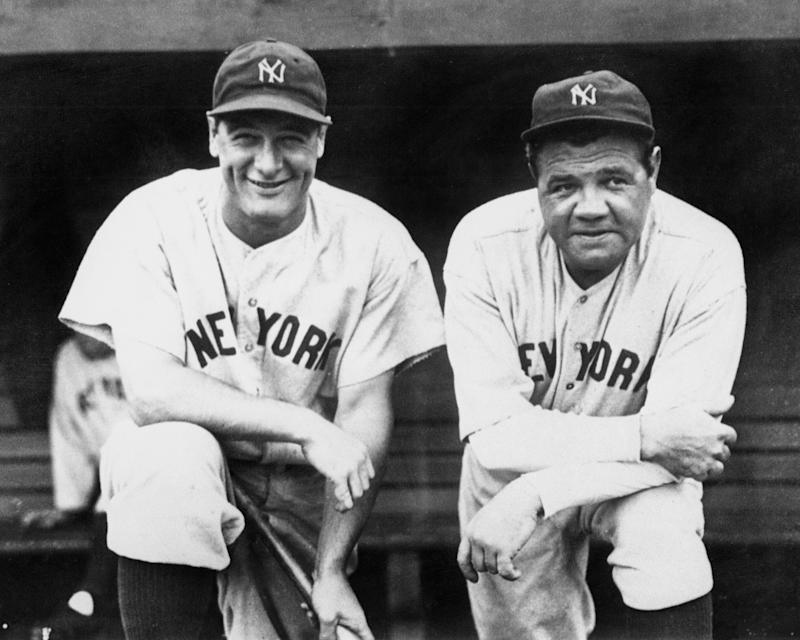 Lou Gehrig and Babe Ruth had two of the best seasons ever in 1927. (Photo by NY Daily News Archive via Getty Images)