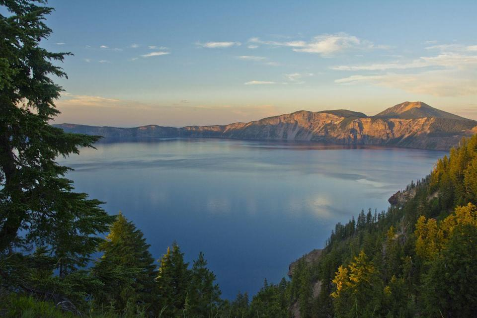 """<p>As the deepest and perhaps most pristine lake in the United States, Oregon's <a href=""""https://www.nps.gov/crla/index.htm"""" rel=""""nofollow noopener"""" target=""""_blank"""" data-ylk=""""slk:Crater Lake"""" class=""""link rapid-noclick-resp"""">Crater Lake</a> inspires awe in all who visit it. The body of water sits atop the volcanic Mount Mazama, which erupted 7,700 years ago and resulted in the formation of the lake. Now, fed by ice and snow, Crater Lake's water is some of the clearest in the world.</p><p><em><em><a href=""""http://www.housebeautiful.com/lifestyle/a6003/nelson-lakes-new-zealand/"""" rel=""""nofollow noopener"""" target=""""_blank"""" data-ylk=""""slk:See more photos of the world's clearest lakes."""" class=""""link rapid-noclick-resp"""">See more photos of the world's clearest lakes.</a></em></em><br></p>"""