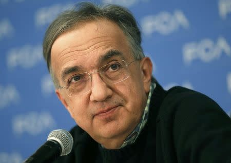 Fiat Chrysler Automobiles CEO Sergio Marchionne listens during the North American International Auto Show in Detroit