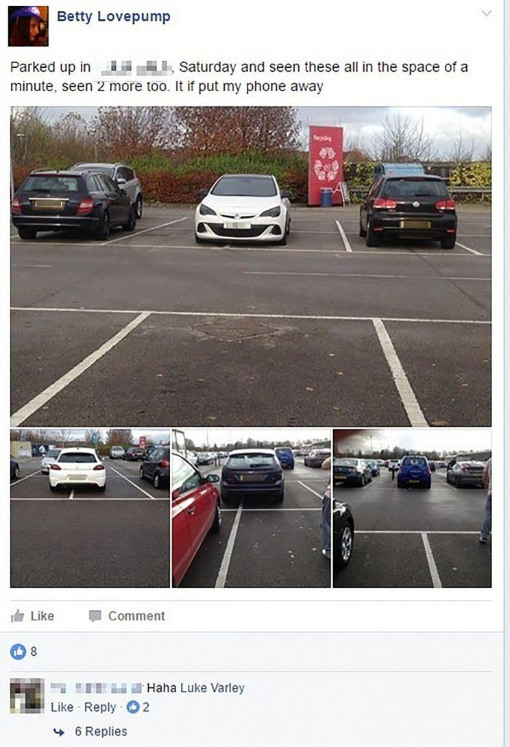 The Facebook site targets what it calls bad parkers (Mercury Press)