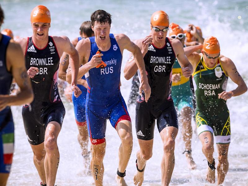 The Brownlee compete in the 2016 triathlon at the Olympic Games: Getty