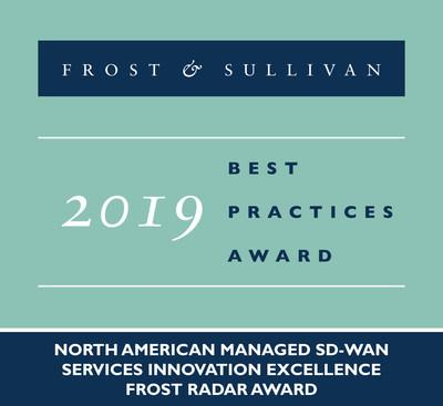 2019 North American Managed SD-WAN Services Innovation Excellence Frost Radar Award
