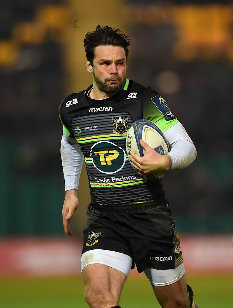 NORTHAMPTON, ENGLAND - JANUARY 13: Ben Foden of Northampton Saints during the European Rugby Champions Cup match between Northampton Saints and ASM Clermont Auvergne at Franklin's Gardens on January 13, 2018 in Northampton, England. (Photo by Tony Marshall/Getty Images)