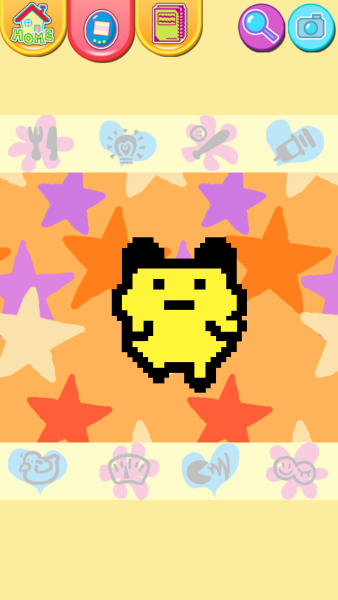 """This publicity photo released by Sync Beatz Entertainment shows the app mode screenshot of mobile app """"Tamagotchi L.i.f.e."""" by developer/publisher Bandai America Inc./Sync Beatz Entertainment. The app duplicates the egg-shaped Tamagotchi toy that became a must-own sensation after it was first released in 1996 in Japan. (AP Photo/Bandai America Inc./Sync Beatz Entertainment)"""