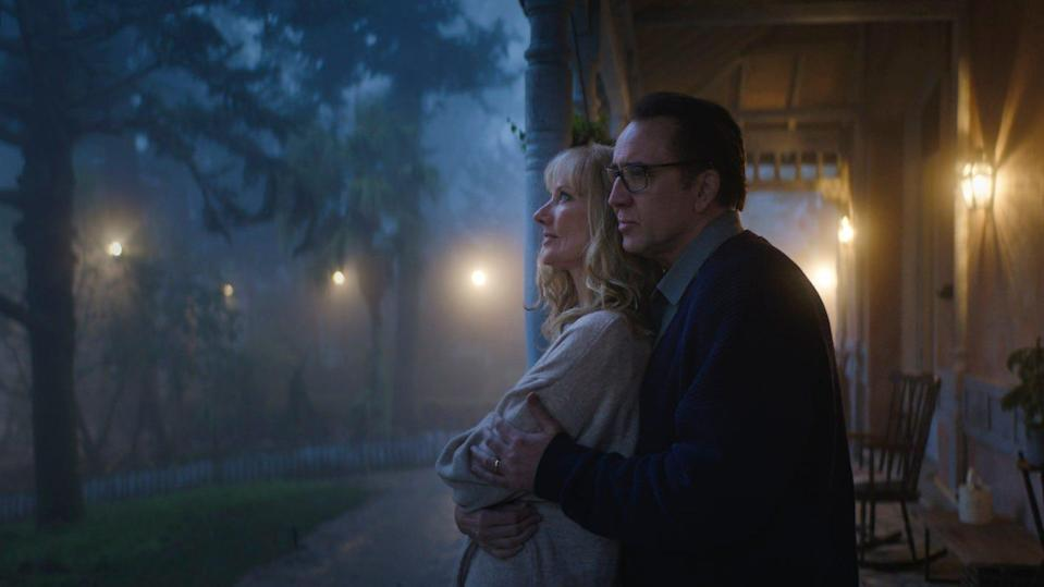 """Joely Richardson and Nicolas Cage are a New England couple dealing with an alien threat in the horror film """"Color Out of Space."""""""