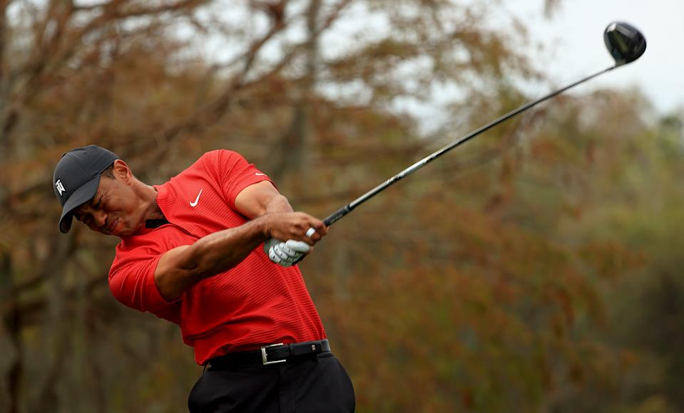 Tiger Woods in December. (Mike Ehrmann/Getty Images)