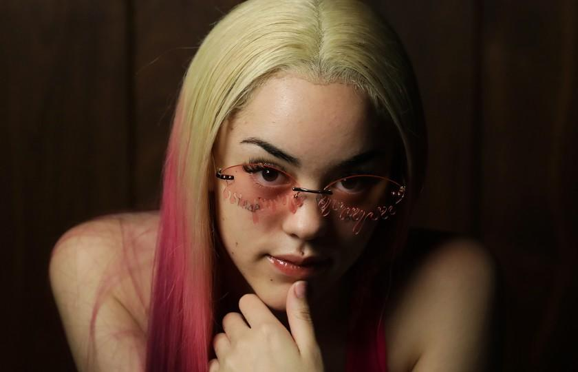 WEST HOLLYWOOD-CA-SEPTEMBER 8, 2020: Santa Monica rapper ppcocaine, 19, is photographed at Westlake Recording Studios in West Hollywood on Tuesday, September 8, 2020. (Christina House / Los Angeles Times)