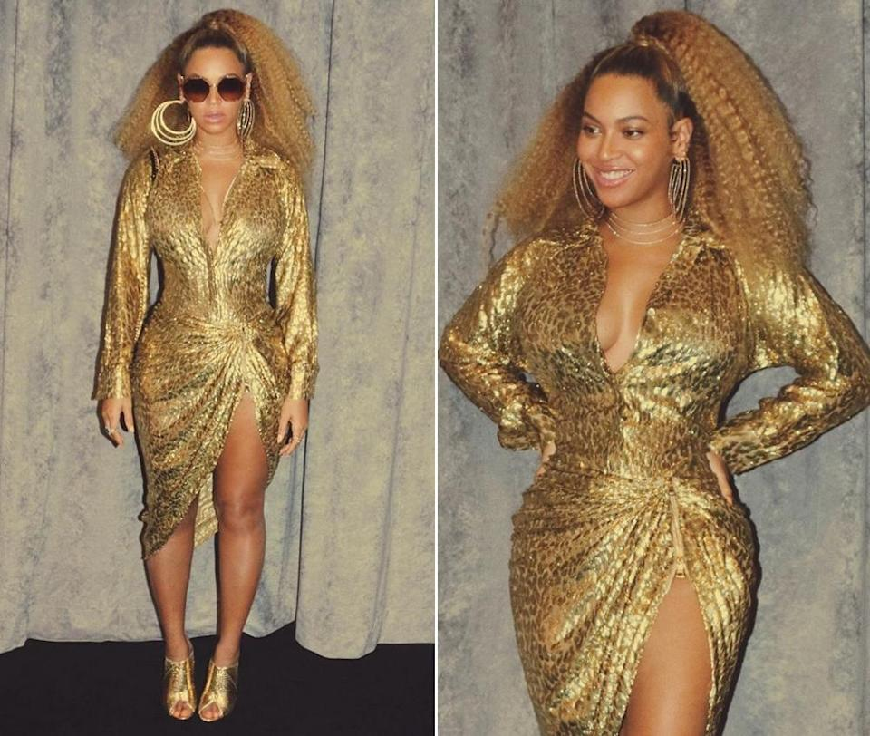 """Beyoncé's fans are not happy that she had Blue Ivy """"stand in the corner"""" for a solo pic. (Photo: Instagram/Beyoncé)"""