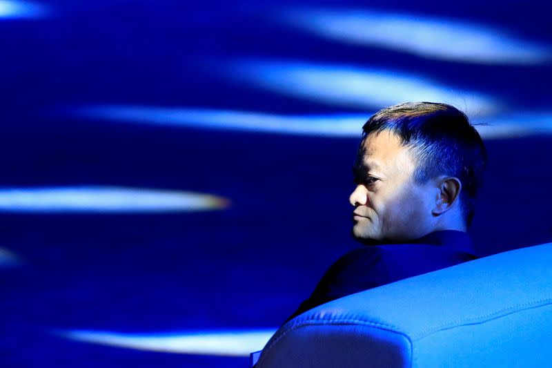 Alibaba Group's Jack Ma attends the WAIC in Shanghai