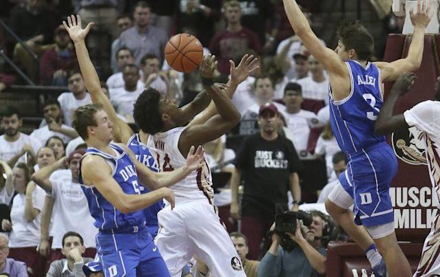 Florida State scored 56 points in the paint in an 88-72 win over No. 7 Duke. (AP)