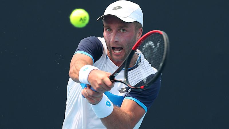 Liam Broady, pictured here in action during Australian Open qualifying.