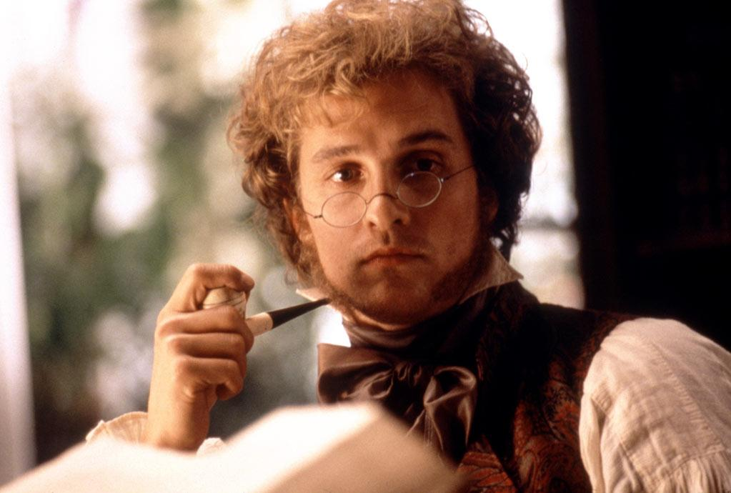 "<a href=""http://movies.yahoo.com/movie/1800020212/info"">AMISTAD</a> (1997)  Some hairstyles are timeless. Thankfully, the 19th-century frizzy mop with muttonchops he had in this Spielberg drama was not."