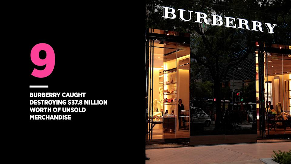 Burberry isn't the only brand to destroy unsold merchandise like this. (Photo: Getty Images)