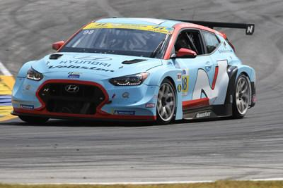 Braselton, Ga. (Oct. 12, 2019) – Mark Wilkins and Michael Lewis, drivers of the #98 Hyundai Veloster N TCR Race Car for Bryan Herta Autosport (BHA) with Curb Agajanian, clinched the 2019 IMSA Michelin Pilot Challenge Drivers' Championship yesterday with a victory at the Fox Factory 120 at Michelin Raceway Road Atlanta. Bryan Herta Autosport secured the Team Title and Hyundai finished a close second in the Manufacturers' Championship.