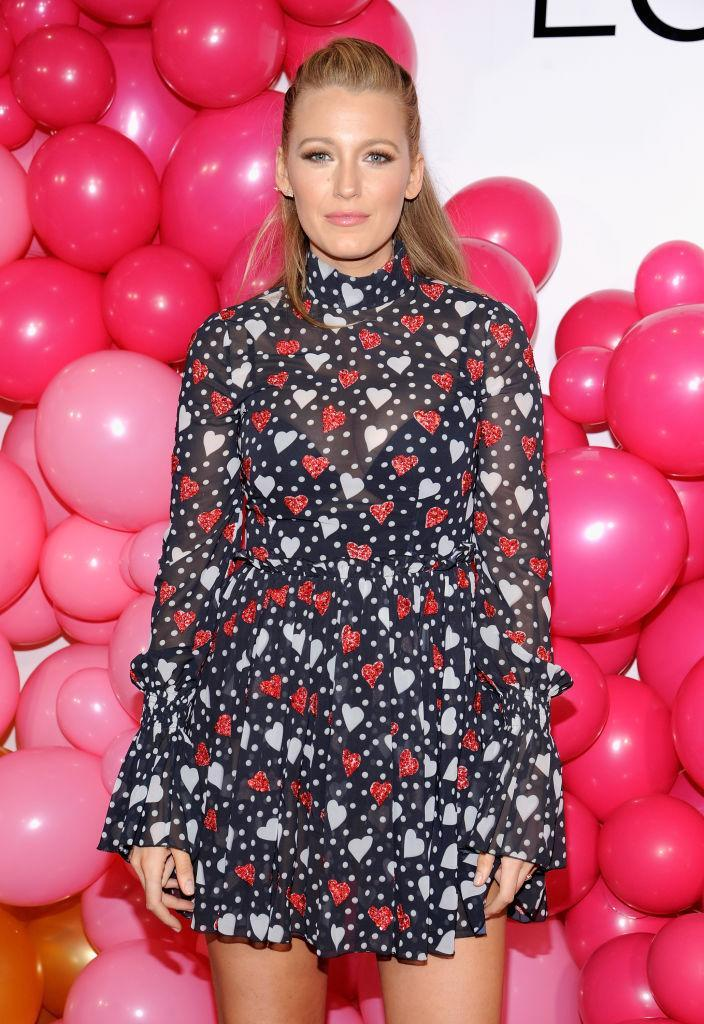 <p>Blake shows off her fun side at the L'Oreal Paris Paints + Colorista launch event in a semi sheer printed dress.<br><i>[Photo: Getty]</i> </p>