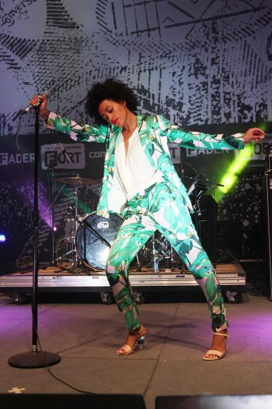 Solange performs onstage at Fader Fort presented by Converse during SXSW on March 14, 2013 in Austin, Texas.