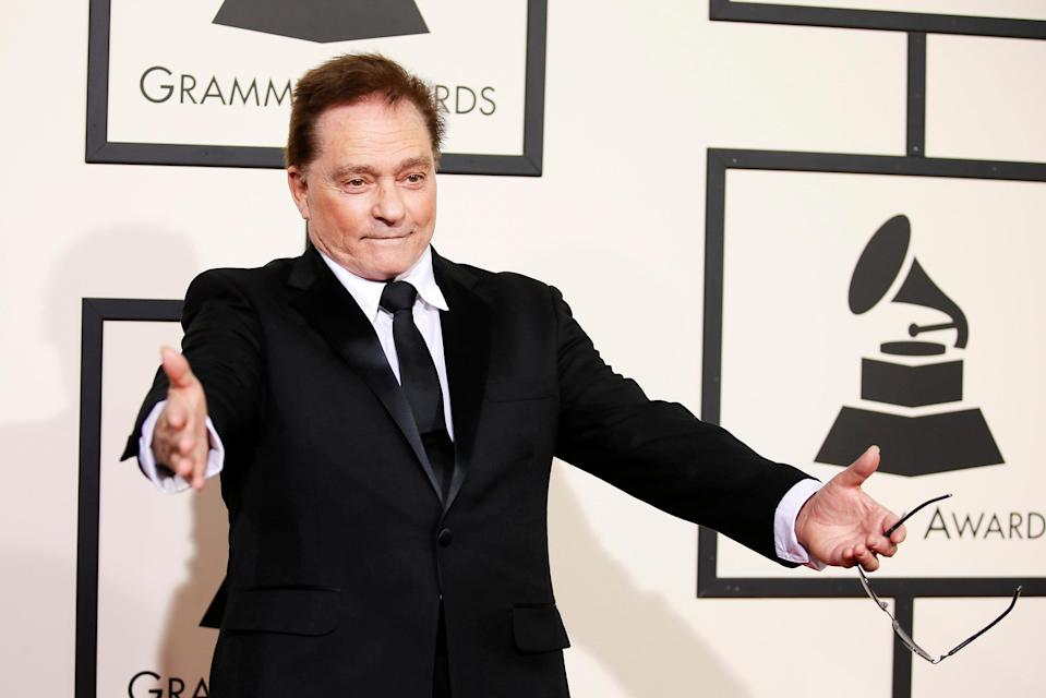 Marty Balin arriving at the 58th Grammy Awards in Los Angeles on Feb. 15, 2016. (Photo: Danny Moloshok/AP)