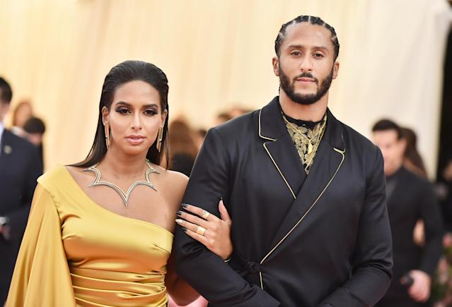 Nessa and Colin Kaepernick attend The 2019 Met Gala Celebrating Camp: Notes on Fashion at Metropolitan Museum of Art on May 06, 2019 in New York City. (Photo by Theo Wargo/WireImage)