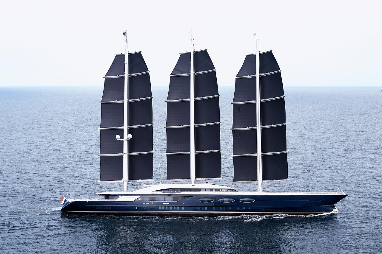 Solar Powered Superyacht Black Pearl Is Largest On The Seas