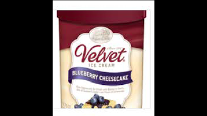 Blueberry Cheesecake flavor was among the 33 flavors of Velvet ice cream recalled.