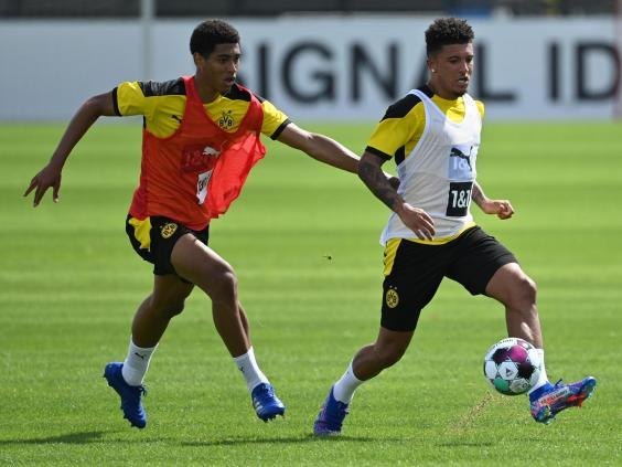 Jadon Sancho has travelled for Borussia Dortmund's training camp (Getty)