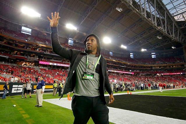 Roddy White at the College Football national championship. (Getty)